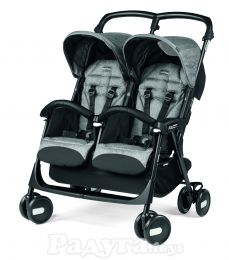 Коляска Peg-Perego Aria Shopper Twin Cinder серая (IP07280000GL53RO01)
