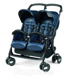 Коляска Peg-Perego Aria Shopper Twin Indigo синяя (IP07280000GL51RO51)