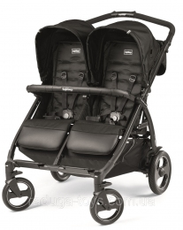 Коляска Peg-Perego BOOK FOR TWO Black черная (IP05280000SU13)